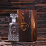 Glass Engraved Decanter – Square with Gift Box
