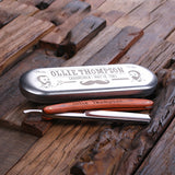 Personalized Straight Razor Blade with Tin Box - Rion Douglas Gifts - 2