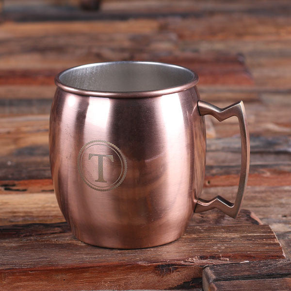 Set of 7 Personalized Moscow Mule Mugs with Beautifully Shaped Handle - Rion Douglas Gifts - 1