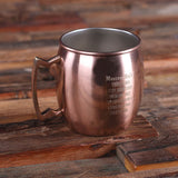 Set of 7 Personalized Moscow Mule Mugs with Beautifully Shaped Handle - Rion Douglas Gifts - 2