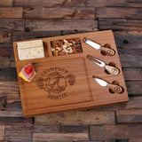 A Bamboo Wood Cutting Bread Cheese Serving Tray Board with Tools – C - Rion Douglas Gifts - 6