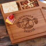 A Bamboo Wood Cutting Bread Cheese Serving Tray Board with Tools – C - Rion Douglas Gifts - 4