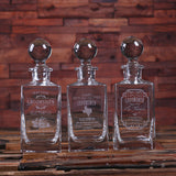 Personalized Whiskey Decanters with Round Bottle Lid - Rion Douglas Gifts - 2