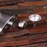 Personalized Stainless Steel Flask – 5 oz. with Wooden Gift Box - Rion Douglas Gifts - 3
