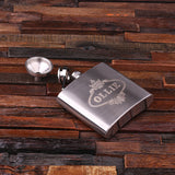 Personalized Stainless Steel Flask – 5 oz. with Wooden Gift Box - Rion Douglas Gifts - 4