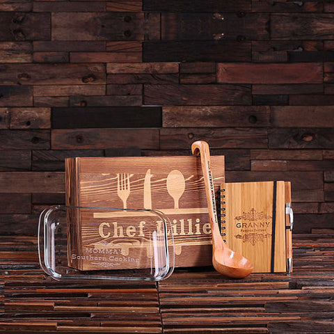Culinary Gift Set w/Keepsake Box – Ladle, Recipe Journal, 1L Baking Dish - Rion Douglas Gifts - 1