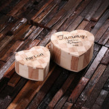 Personalized Wood Hearts, Small, Large or Nested Set of 2 - Rion Douglas Gifts - 3
