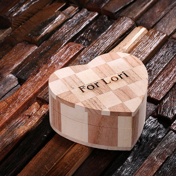 Personalized Wood Hearts, Small, Large or Nested Set of 2 - Rion Douglas Gifts - 4