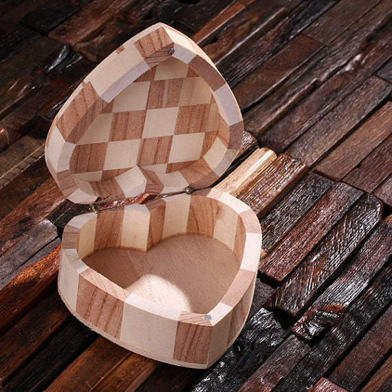 Personalized Wood Hearts, Small, Large or Nested Set of 2 - Rion Douglas Gifts - 5