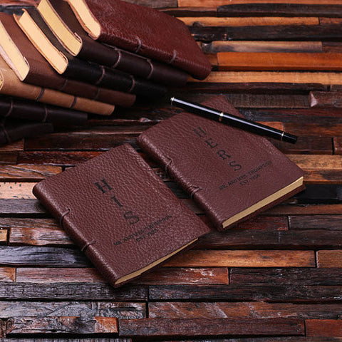 Personalized His & Her Leather Journal Set - Rion Douglas Gifts - 1