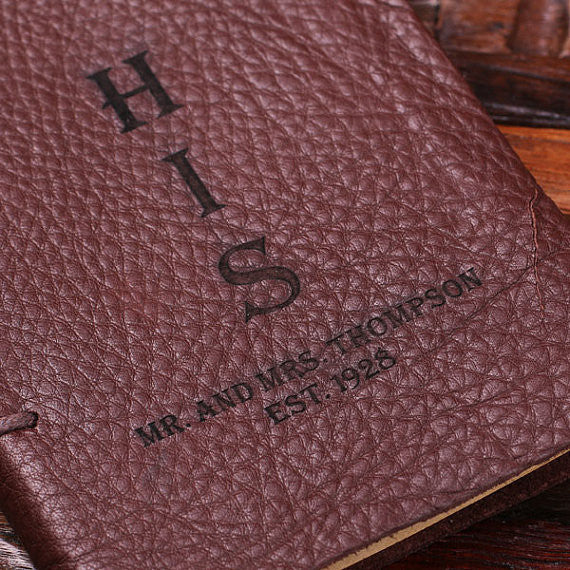 Personalized His & Her Leather Journal Set - Rion Douglas Gifts - 3