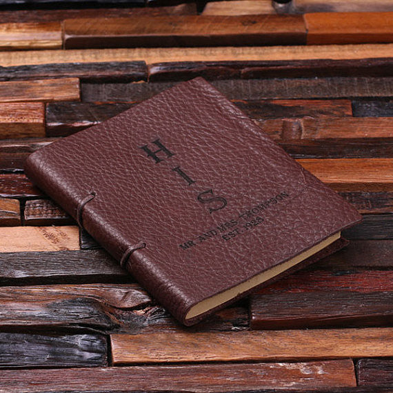 Personalized His & Her Leather Journal Set - Rion Douglas Gifts - 5
