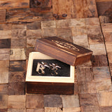 "Initials ""A-Z"" Personalized Polished Stainless Steel Men's Classic Cuff Link Cufflink with Wood Box - Rion Douglas Gifts - 4"