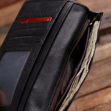Black Bi-fold Unisex Long Wallet Personalized with Optional Box - Rion Douglas Gifts - 4