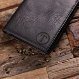 Black Bi-fold Unisex Long Wallet Personalized with Optional Box - Rion Douglas Gifts - 5