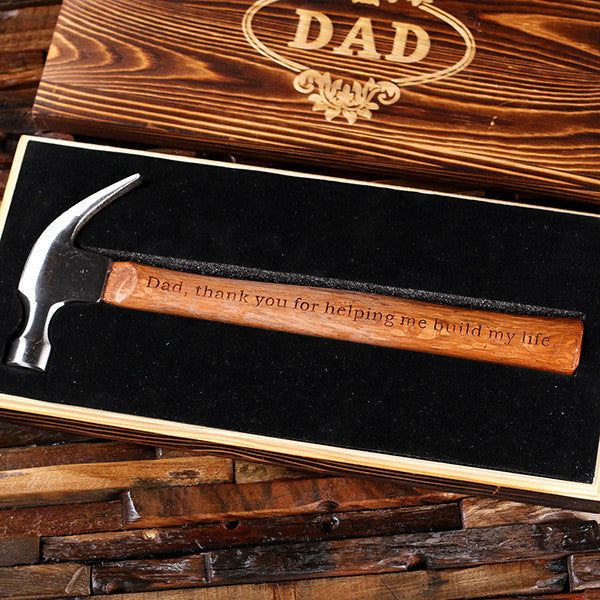 Personalized Engraved Hammer with Wood Box