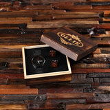 Personalized Black Wood Watch and Cufflinks with Engraved Wood Box - Rion Douglas Gifts - 1