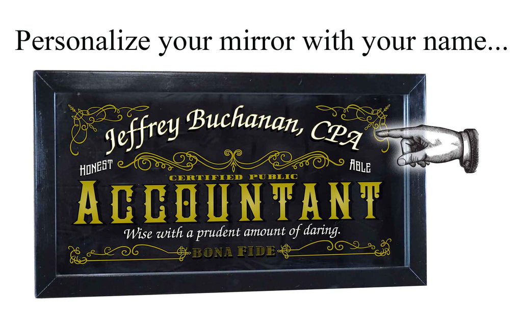 Personalized Bar Occupational Business Mirror Sign