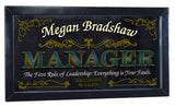 Manager Personalized Bar Occupational Business Mirror Sign