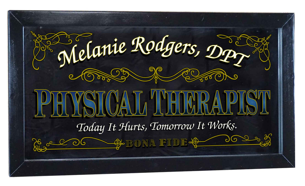 Physical Therapist Personalized Bar Occupational Business Mirror Sign