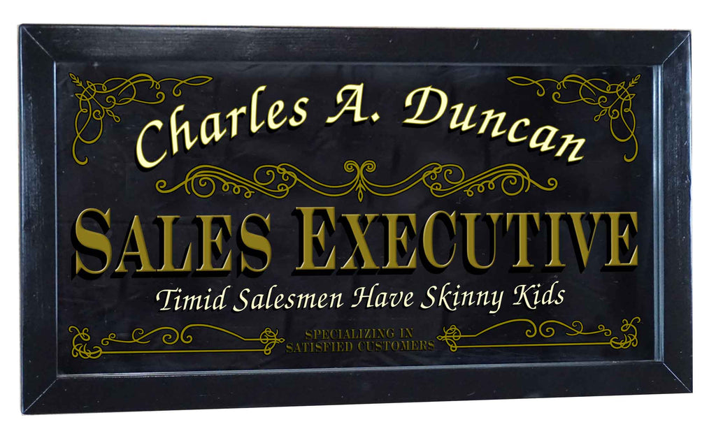 Sales Executive Personalized Bar Occupational Business Mirror Sign
