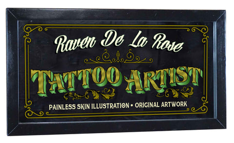 Tattoo Artist Personalized Bar Occupational Business Mirror Sign