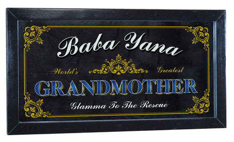 Grandmother Personalized Bar Occupational Business Mirror Sign