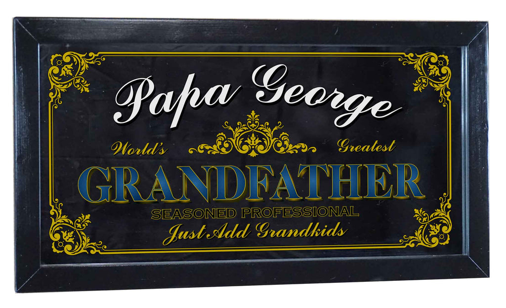 Grandfather Personalized Bar Occupational Business Mirror Sign
