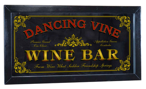 Wine Bar Personalized Bar Occupational Business Mirror Sign