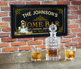 Home Bar Personalized Bar Occupational Business Mirror Sign