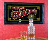 Personalized Bar Mirror Sign 'Game Room'