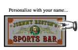 Personalized Bar Mirror Sign 'Sports Bar'