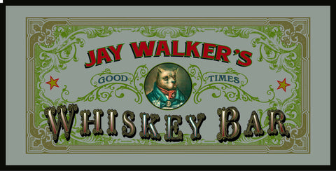 Personalized Bar Mirror Sign 'Whiskey Bar'
