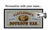Personalized Mirror Sign Bourbon Bar