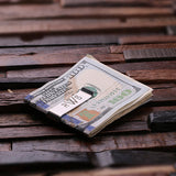 Monogrammed Money Clip – Polished Stainless Steel w/Optional Wood Gift Box - Rion Douglas Gifts - 2