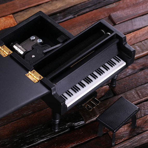 Piano Music and Jewelry Box in 3 Wood Finishes - Rion Douglas Gifts - 3