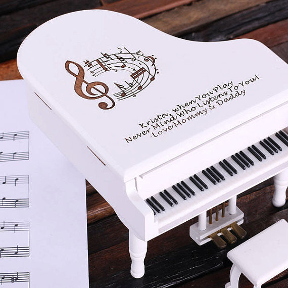 Piano Music and Jewelry Box in 3 Wood Finishes - Rion Douglas Gifts - 7