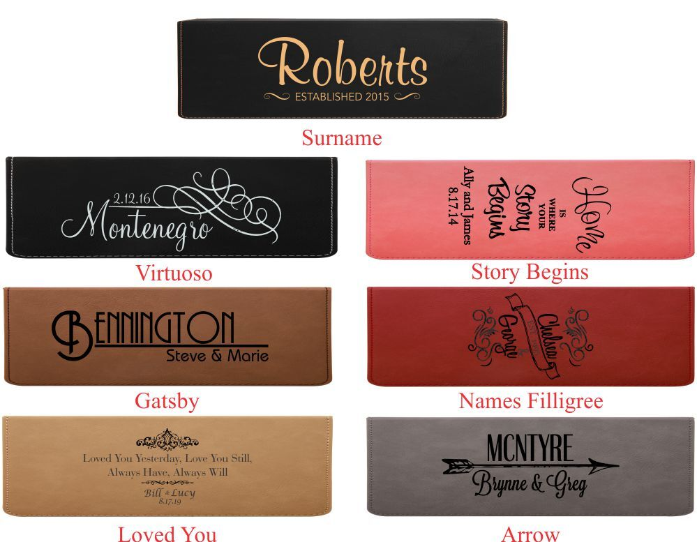 Colors Personalized Leatherette Wine Box with Tools