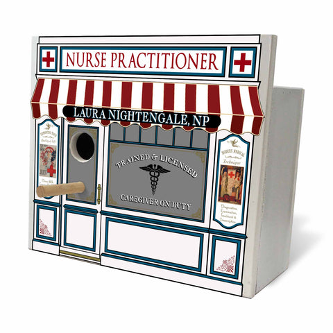 Personalized Birdhouse Personalized Birdhouse Bird House - Nurse Practitioner