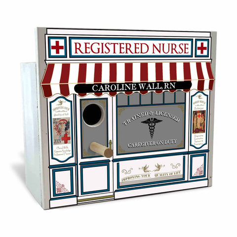 Personalized Birdhouse Bird House - Registered Nurse