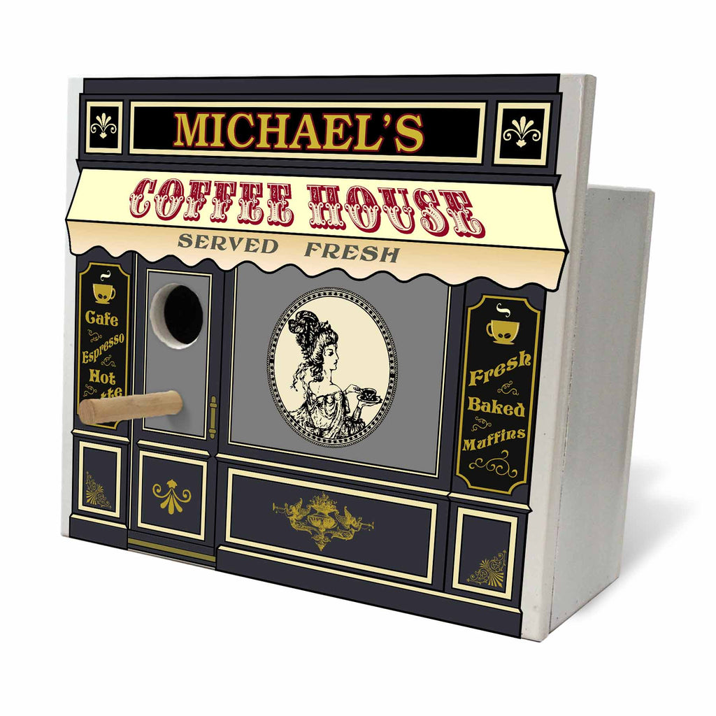 Personalized Birdhouse Bird House - Coffee House