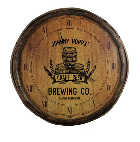 Personalized Quarter Barrel Clock