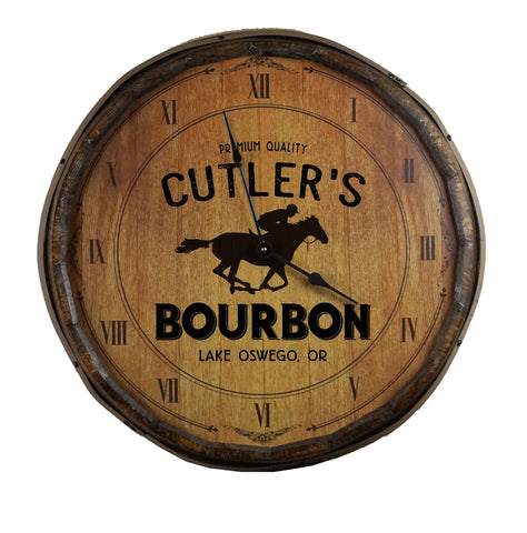 Bourbon Personalized Quarter Barrel Clock