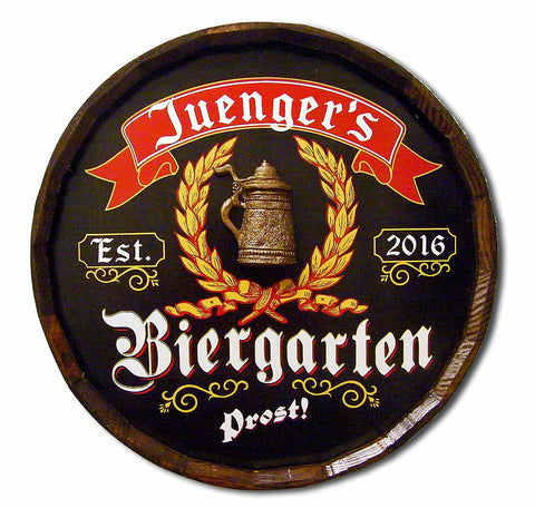Beirgarten - Personalized Quarter Barrel Sign - Rion Douglas Gifts - 1