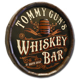 Whiskey Bar - Personalized Quarter Barrel Sign - Rion Douglas Gifts - 2