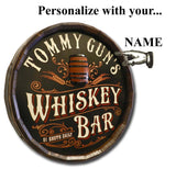 Whiskey Bar - Personalized Quarter Barrel Sign - Rion Douglas Gifts - 3
