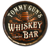 Whiskey Bar - Personalized Quarter Barrel Sign - Rion Douglas Gifts - 1