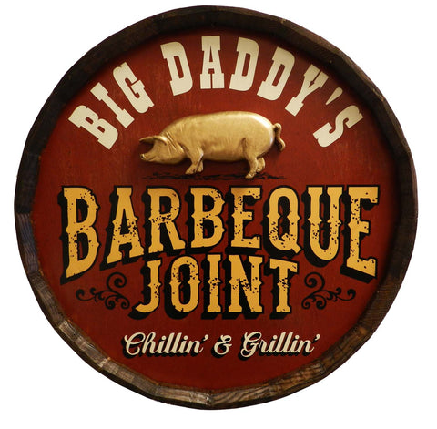 BBQ Joint - Personalized Quarter Barrel Sign - Rion Douglas Gifts - 1