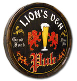 English Pub - Personalized Quarter Barrel Sign - Rion Douglas Gifts - 2