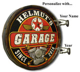 Garage - Personalized Quarter Barrel Sign and Clock - Rion Douglas Gifts - 2